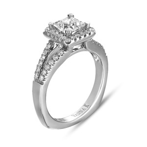 VANNA K 18KW DIAMOND ENGAGEMENT RING